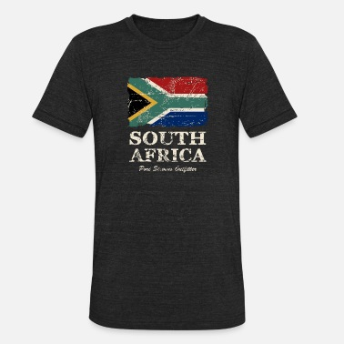 South South Africa Flag - Vintage Look - Unisex Tri-Blend T-Shirt