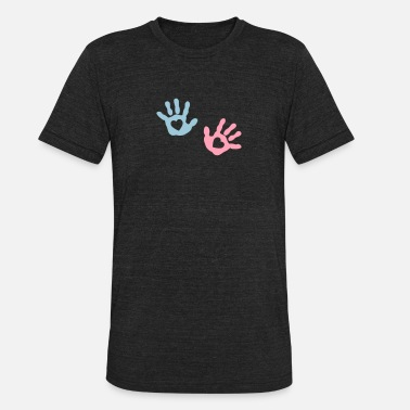 Handprint baby - hands - heart - Unisex Tri-Blend T-Shirt