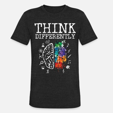 Think Think Differently - Neurodiversity ASD ADHD Autism - Unisex Tri-Blend T-Shirt