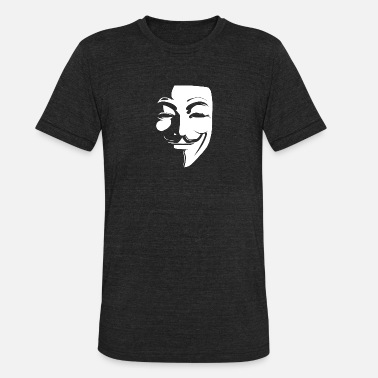 Anonymous Guy Fawkes Mask - Unisex Tri-Blend T-Shirt