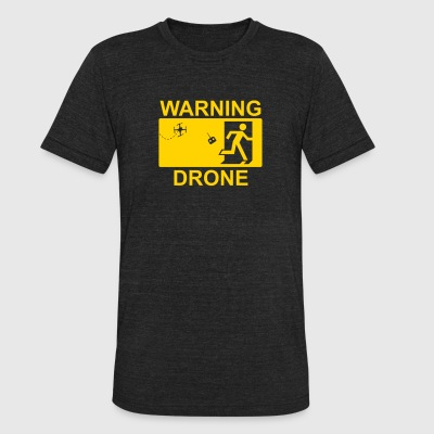 Exit Warning Drone - Unisex Tri-Blend T-Shirt by American Apparel