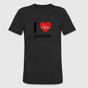 I Love Kortrijk - Unisex Tri-Blend T-Shirt by American Apparel