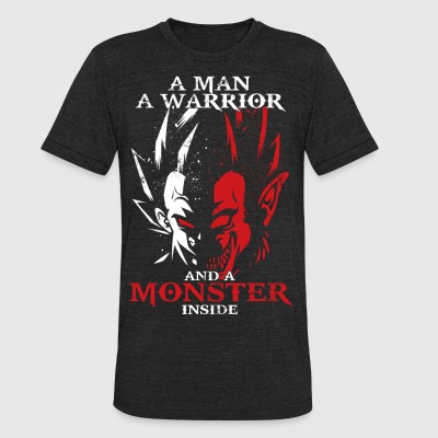 dragon ball majin vegeta monster in side - Unisex Tri-Blend T-Shirt by American Apparel