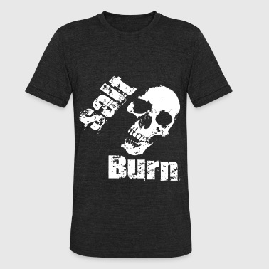 New Salt Skull Burn - Unisex Tri-Blend T-Shirt