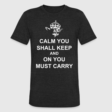 Keep Calm and Carry on with Yoda Force - Unisex Tri-Blend T-Shirt