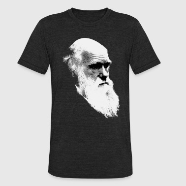 Charles Darwin Face of Evolution - Unisex Tri-Blend T-Shirt
