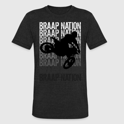 Braap Nation 3 - Unisex Tri-Blend T-Shirt by American Apparel
