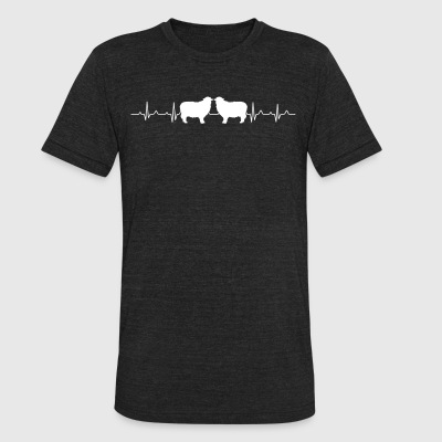 Sheep Heartbeat Shirt - Unisex Tri-Blend T-Shirt by American Apparel