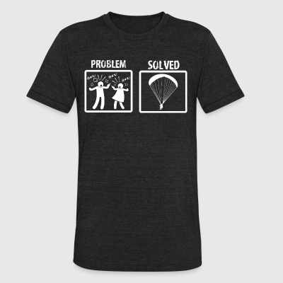 Problem Solved Paragliding - Unisex Tri-Blend T-Shirt by American Apparel