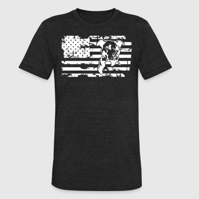 Pitbull Flag Shirt - Unisex Tri-Blend T-Shirt by American Apparel