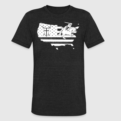 Crusader Flag Shirt - Unisex Tri-Blend T-Shirt by American Apparel