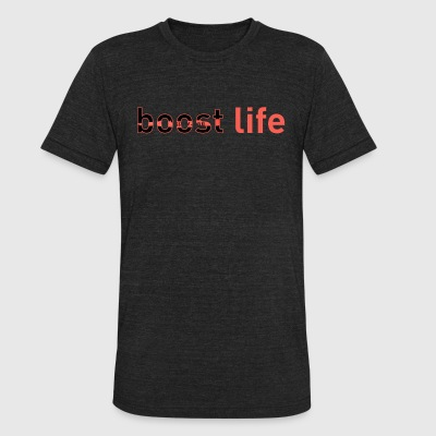 Red Yeezy V2 Boost Life Short Sleeve T-Shirt - Unisex Tri-Blend T-Shirt by American Apparel