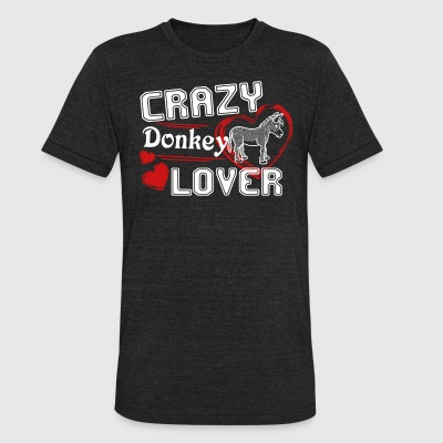 Donkey Lover Shirt - Unisex Tri-Blend T-Shirt by American Apparel