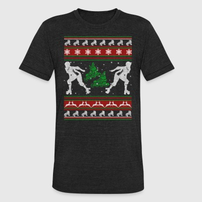 Roller Derby Shirts - Roller Derby Christmas Shirt - Unisex Tri-Blend T-Shirt by American Apparel