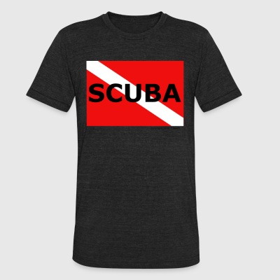 SCUBA - Unisex Tri-Blend T-Shirt by American Apparel