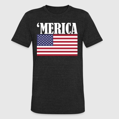 America Flag USA - Unisex Tri-Blend T-Shirt by American Apparel
