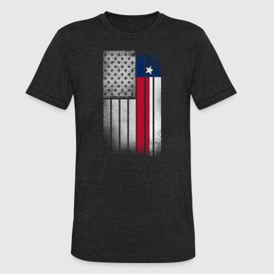 USA Vintage Texas State Flag - Unisex Tri-Blend T-Shirt by American Apparel
