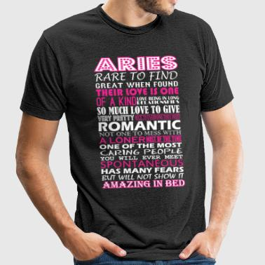 Aries Rare To Find Romantic Amazing To Bed - Unisex Tri-Blend T-Shirt