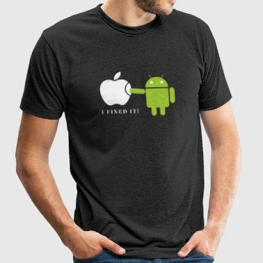 Android - Unisex Tri-Blend T-Shirt by American Apparel