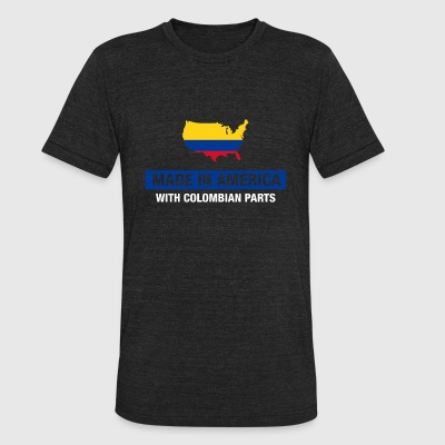 Made In America With Colombian Parts Colombia Flag - Unisex Tri-Blend T-Shirt by American Apparel