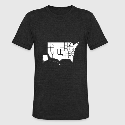 Straight Map - Unisex Tri-Blend T-Shirt by American Apparel