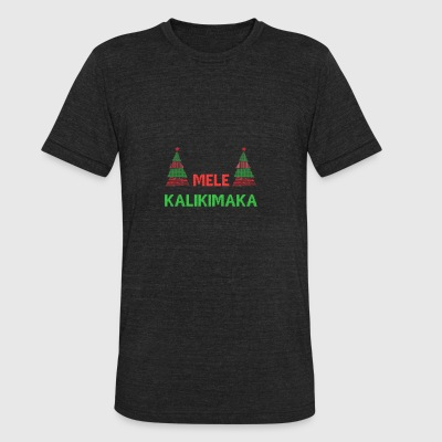 Mele Kalikimaka Christmas - Unisex Tri-Blend T-Shirt by American Apparel