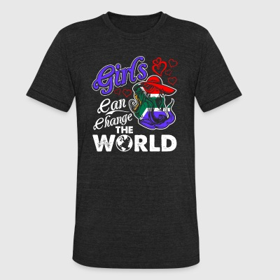 South African Girls Can Change The World - Unisex Tri-Blend T-Shirt by American Apparel