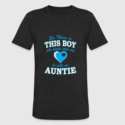 Auntie - This boy who stole my heart call me aun - Unisex Tri-Blend T-Shirt by American Apparel
