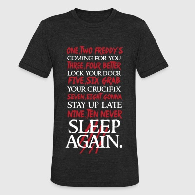 Nightmare on elm street - 1, 2 Freddy's Coming F - Unisex Tri-Blend T-Shirt by American Apparel