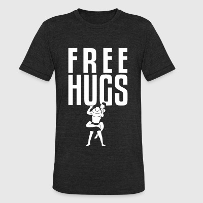 Bjj - Free Hugs Jiu Jitsu BJJ MMA Grappling Rear - Unisex Tri-Blend T-Shirt by American Apparel