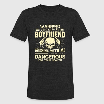 - I Belong To My Boyfriend T Shirt - Unisex Tri-Blend T-Shirt by American Apparel