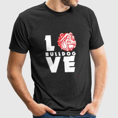Bulldog - Love Bulldog! - Unisex Tri-Blend T-Shirt by American Apparel