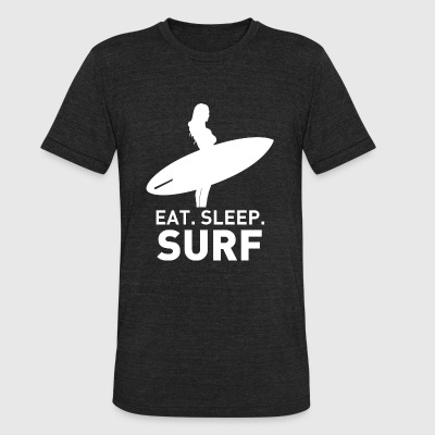 SURF - EAT SLEEP SURF - Unisex Tri-Blend T-Shirt by American Apparel