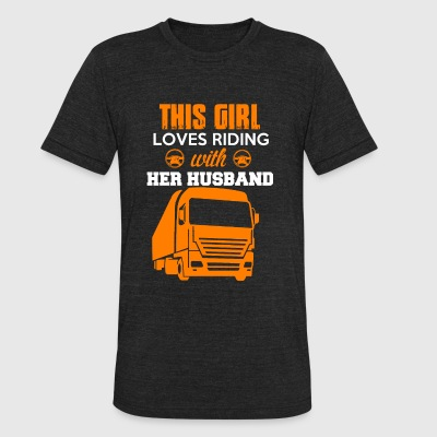 Bus driver - This girl loves riding with her hus - Unisex Tri-Blend T-Shirt by American Apparel