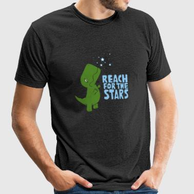 Dinosaurs lover - Reach for the stars - Unisex Tri-Blend T-Shirt by American Apparel