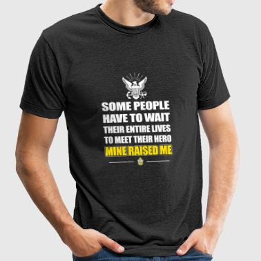 Navy chief - some people have to wait their enti - Unisex Tri-Blend T-Shirt