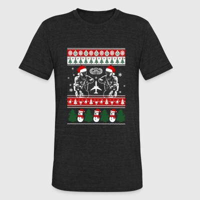 Paratrooper - paratrooper merry xmas sweater - Unisex Tri-Blend T-Shirt by American Apparel