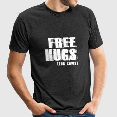Cow - free hugs for cows - cow lover - Unisex Tri-Blend T-Shirt