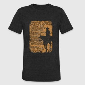 Cowboy - I ride to live - Unisex Tri-Blend T-Shirt by American Apparel