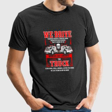 Truck - We live to ride so hop on inside - Unisex Tri-Blend T-Shirt