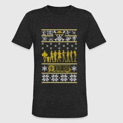 One Piece - Ugly Christmas Sweater - Unisex Tri-Blend T-Shirt by American Apparel