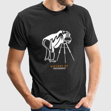 Photographer - History of photography - Unisex Tri-Blend T-Shirt by American Apparel