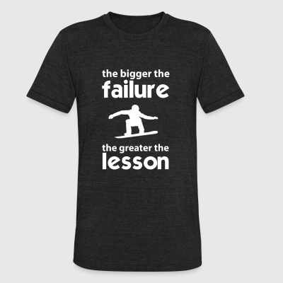 Snowboarder - The failture the greater the lesso - Unisex Tri-Blend T-Shirt by American Apparel