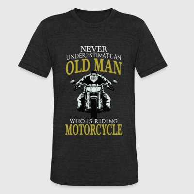 Motorcycle Motorcycle Old man who is riding - Unisex Tri-Blend T-Shirt by American Apparel