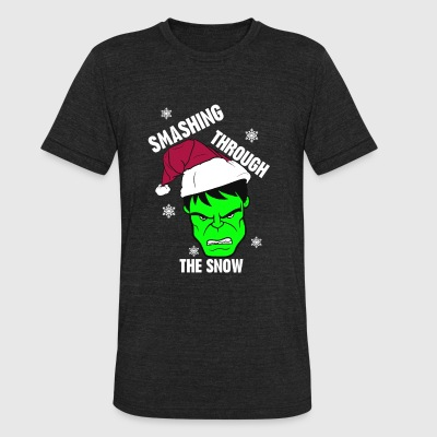 Hulk – Smashing through the snow - Unisex Tri-Blend T-Shirt by American Apparel