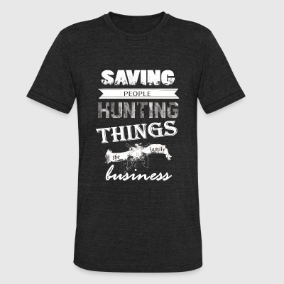 Supernatural - Saving people and hunting things - Unisex Tri-Blend T-Shirt by American Apparel