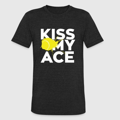 Kiss - kiss my ace - Unisex Tri-Blend T-Shirt by American Apparel