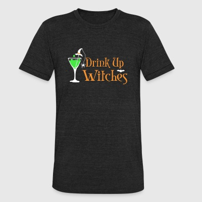 Witch - Halloween Drink Up Witches - Unisex Tri-Blend T-Shirt by American Apparel