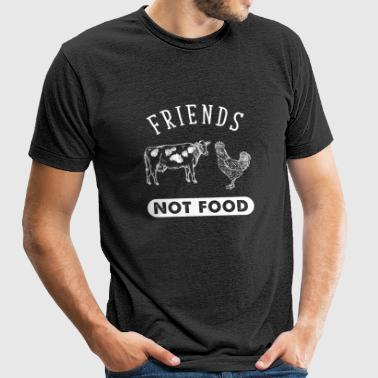 Vegetarian - Animal Are Friends Not Food - Vegan - Unisex Tri-Blend T-Shirt by American Apparel