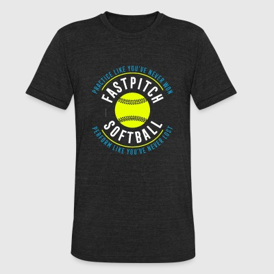 Softball - Fastpitch Softball - Unisex Tri-Blend T-Shirt by American Apparel